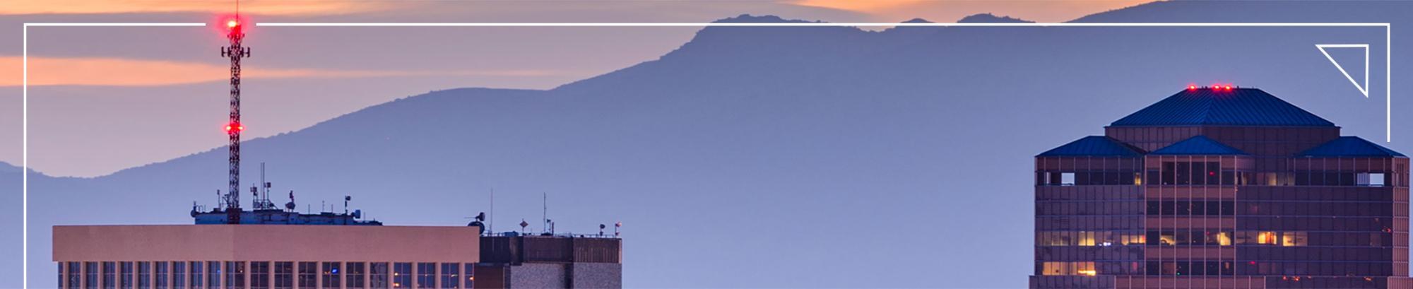 tucson arizona skyline at evening